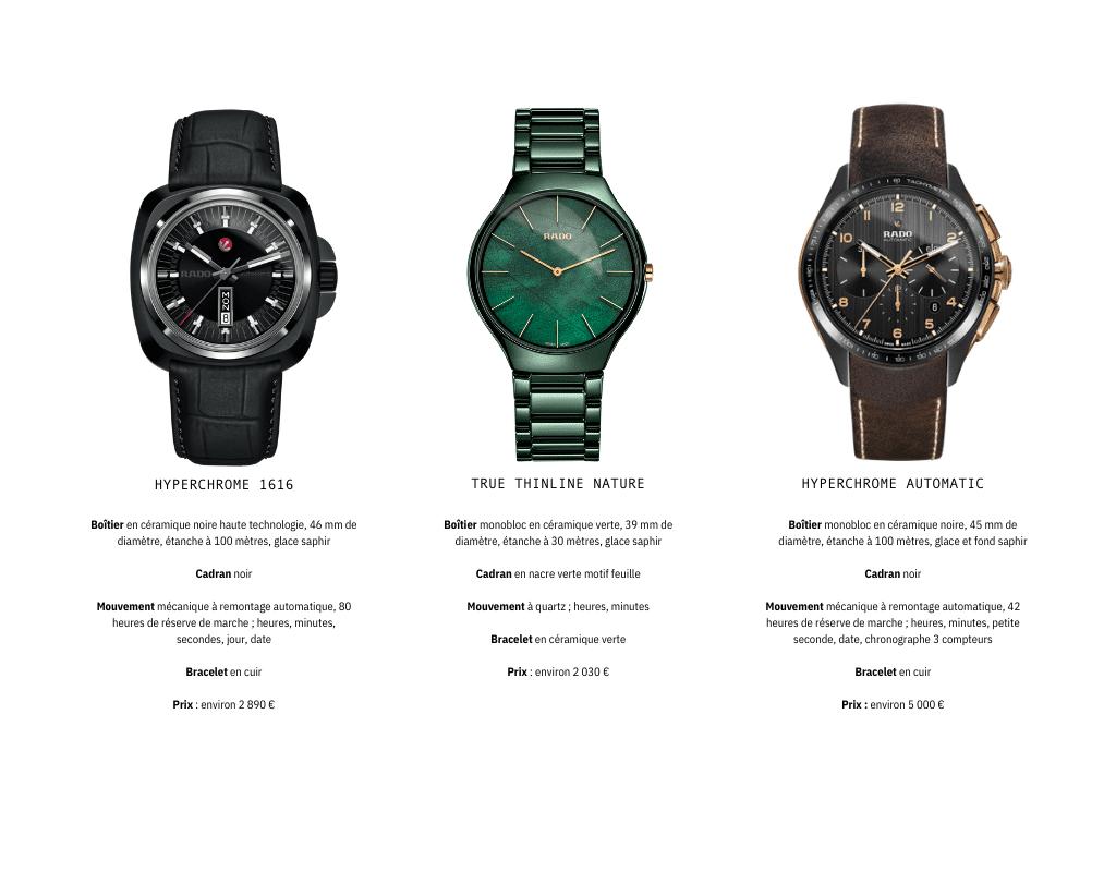 rado marque montre